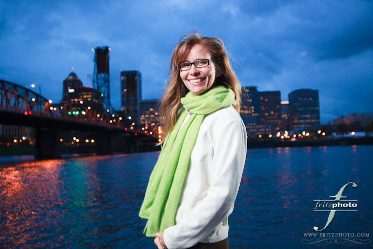 Location Portrait Photography on the waterfront in Portland, Oregon.