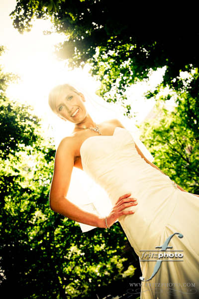 Beautiful Bride Portrait Portland Park Blocks