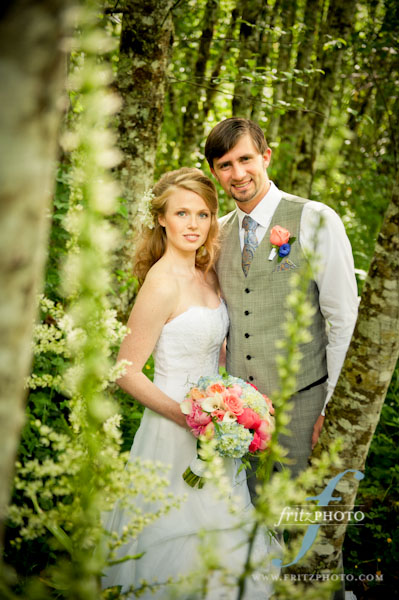 Bride and groom at Mt Hood Oregon Resort