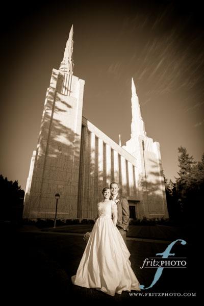 Amazing Portland Oregon LDS Temple Wedding Photography