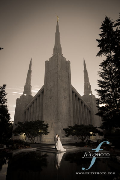 Portland Oregon LDS Temple Wedding Photography