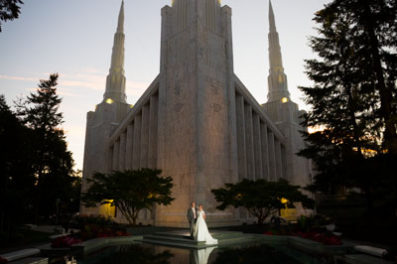 Portland LDS Temple Wedding Photography