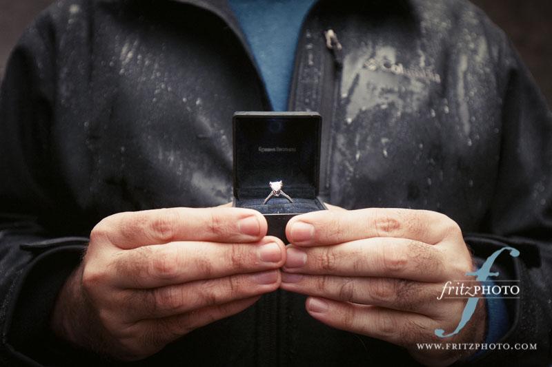 Multnomah Falls Proposal Engagement Photography