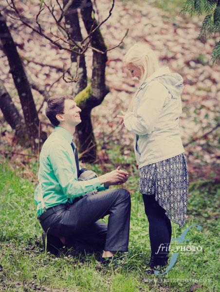 Engagement proposal photographer portland