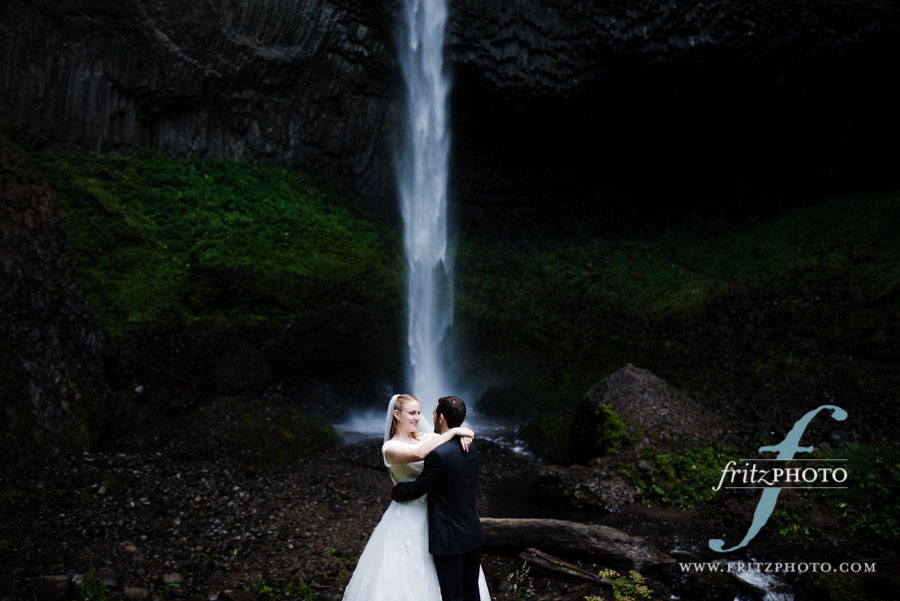 LaTourell Falls wedding photos