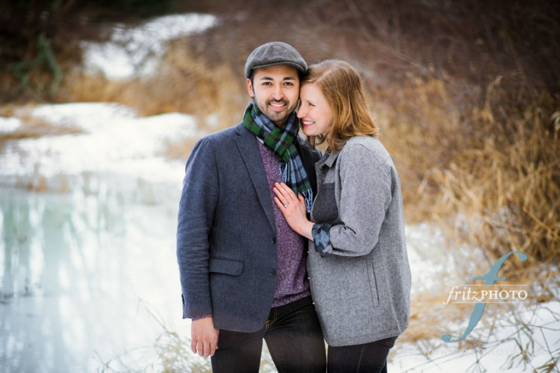 outdoor engagement portraits portland