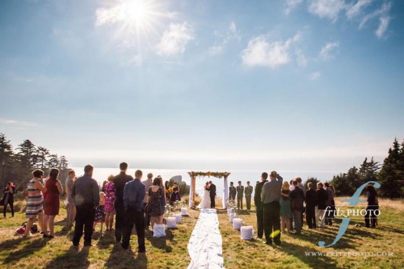 Oregon beach wedding photography