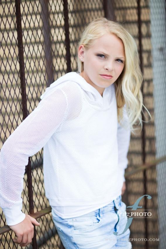 Blond girl model test shoot photographer Portland