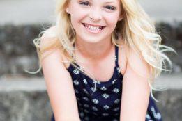 Happy Young girl model portfolio photography Portland