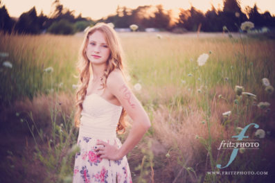Senior portrait photo in Hillsboro, Oregon