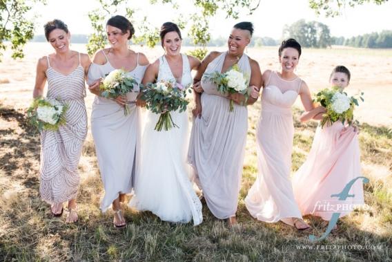 Portrait of Bridesmaids with bride