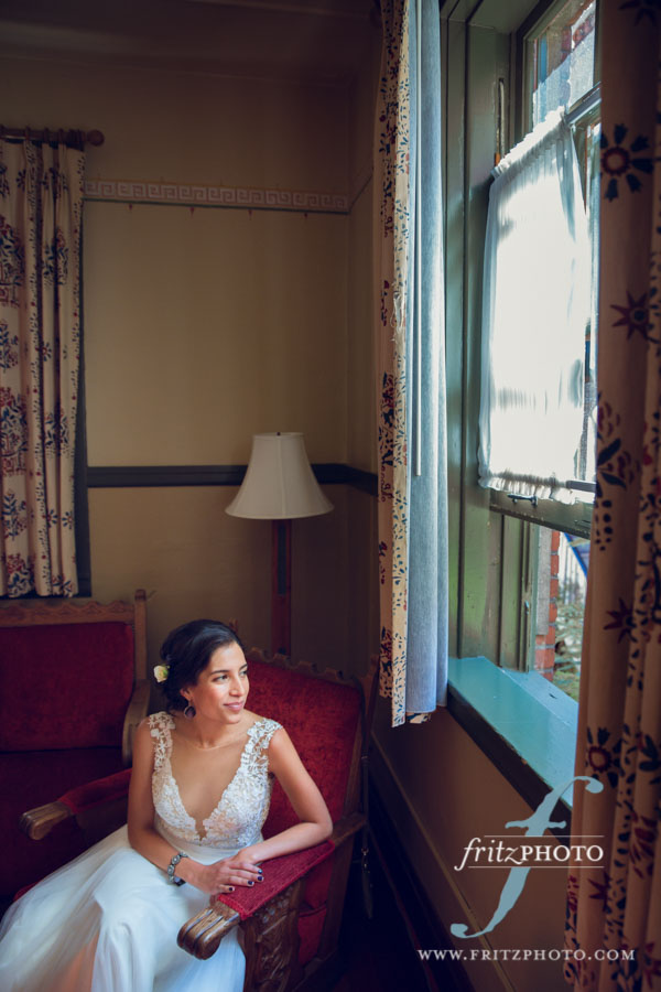 Bride getting ready at Edgefield