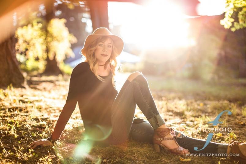 Sun flare senior portraits in Beaverton Oregon