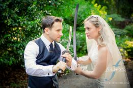 Samurai swords at jenkins estate wedding
