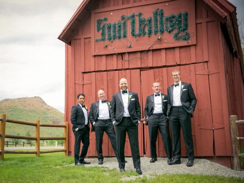 Dancing at Sun Valley Idaho Wedding Photography Groomsmen
