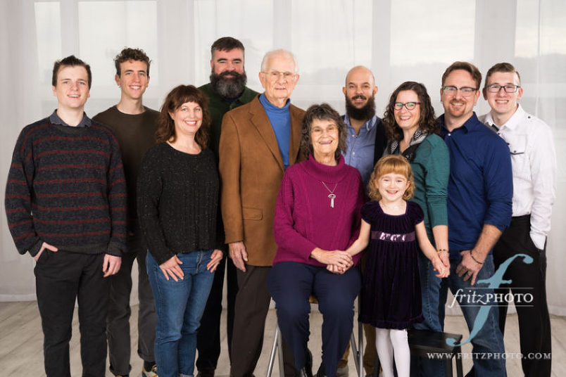 the whole family for portraits in portland oregon