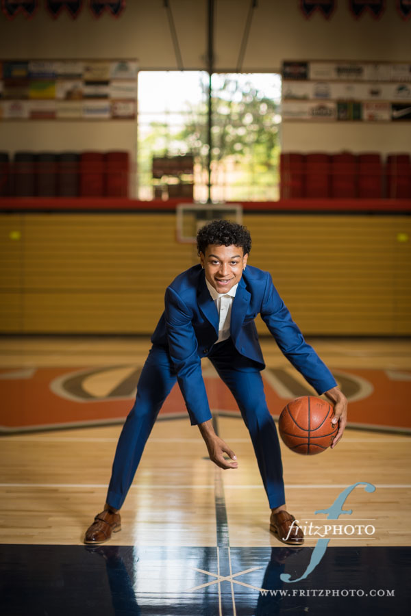 basketball player senior portraits in portland oregon