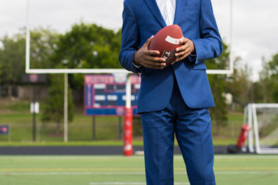 senior portraits in portland oregon football player
