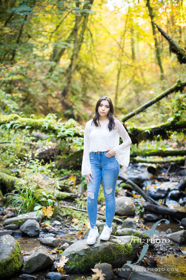 beautiful nature senior portrait
