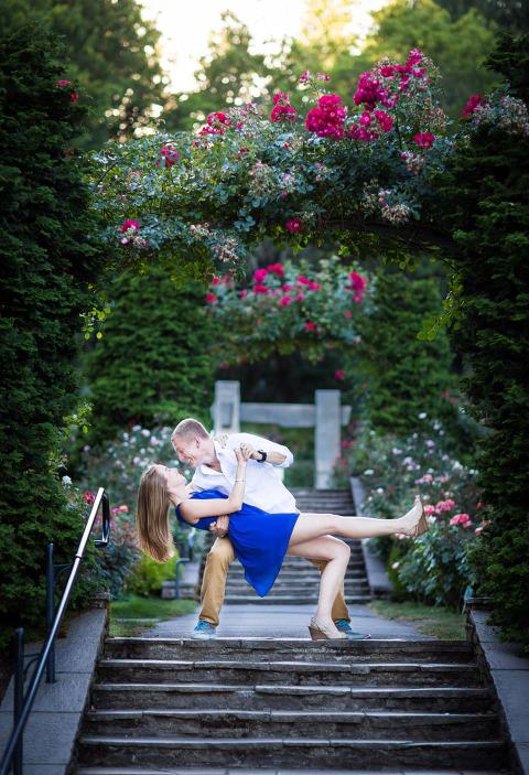 Engagement Portraits Portland Rose Garden