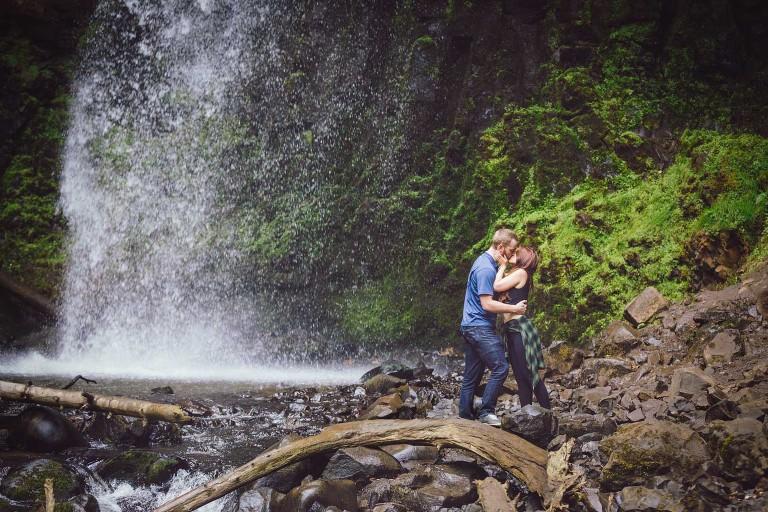 Latourel Falls engagement portrait