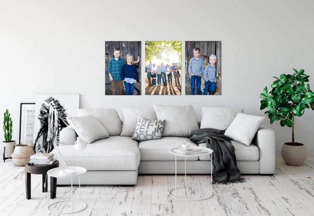 Portland Family Photos over couch