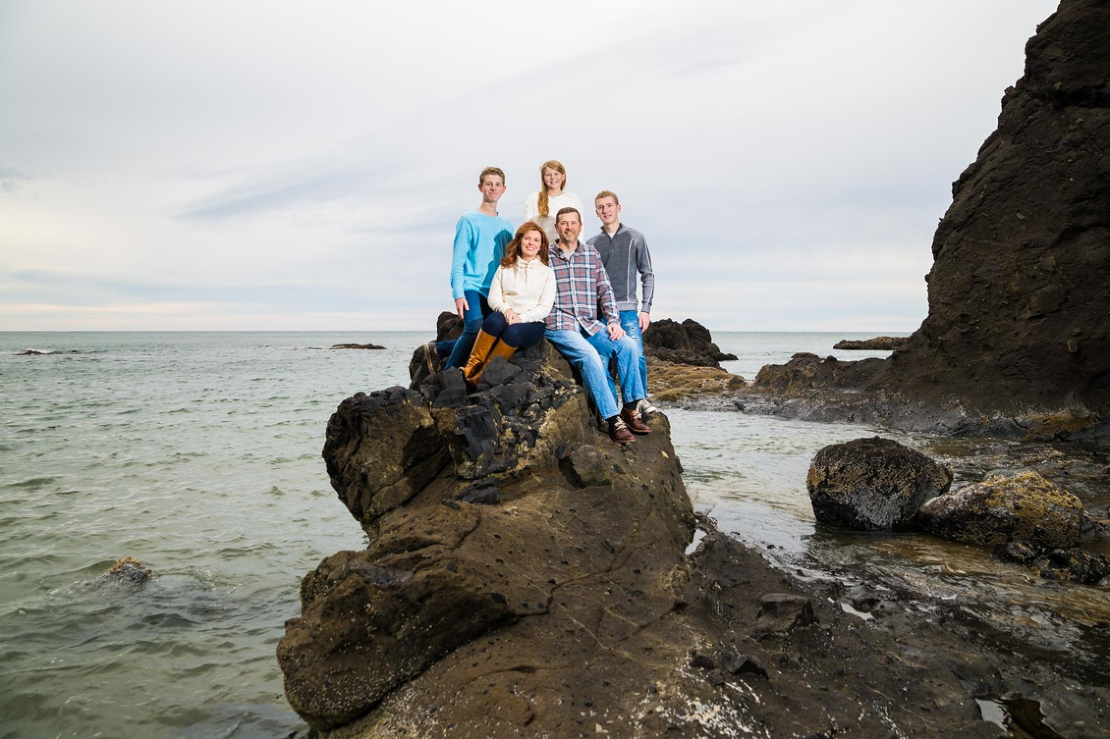 Portland family portrait photographer at the Oregon Coast