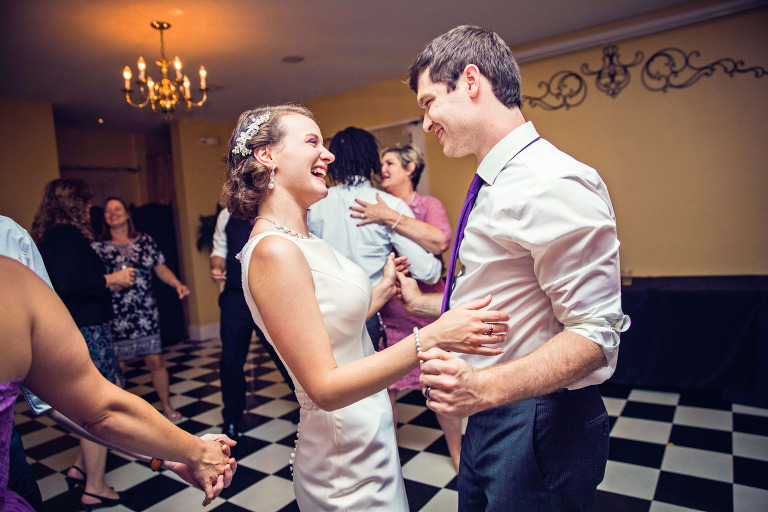Dancing photos at Ainsworth House wedding