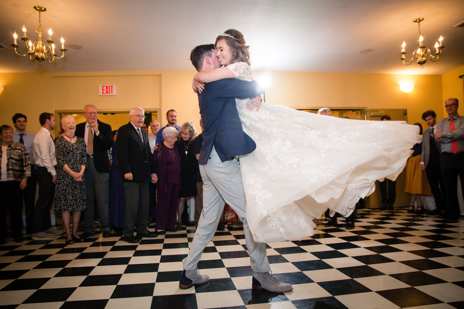 Ainsworth House Wedding Reception dancing photo